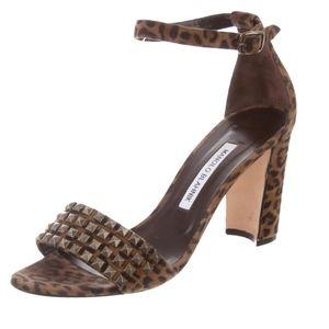 MANOLO BLAHNIK Stud-Embellished Ankle Strap Sandal